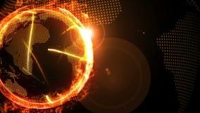 Rede global do mundo sobre a terra com fogo rival da empresa r ilustração royalty free