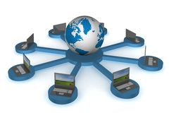 Rede global o Internet. Imagem de Stock Royalty Free