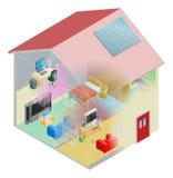 Rede Home Imagens de Stock Royalty Free