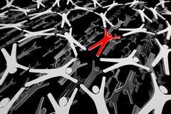 Rede humana. Povos no movimento. Conectado. 3d Imagem de Stock Royalty Free