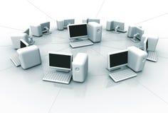 Rede informática ilustração stock