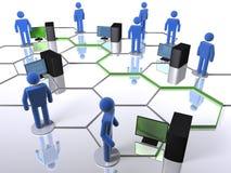 Rede informática Fotos de Stock