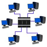 Rede informática Fotografia de Stock Royalty Free