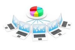 Rede informática Fotografia de Stock