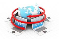 Rede informática Foto de Stock