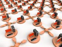 Rede informática ilustração do vetor