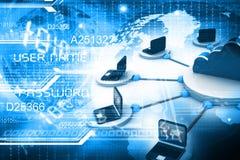 Rede informática com server Foto de Stock Royalty Free