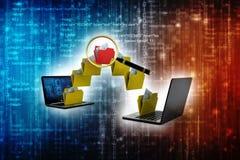 Rede informática, conceito de uma comunicação do Internet 3d rendem ilustração royalty free