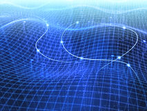 A rede informática conectada Ilustração do Vetor