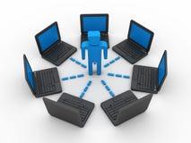 Rede informática de negócio Fotografia de Stock