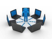 Rede informática de negócio Imagens de Stock Royalty Free