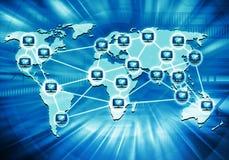 Rede informática de Worlwide Foto de Stock Royalty Free