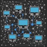 Rede informática moderna Imagens de Stock Royalty Free