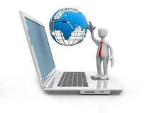 Rede informática global Imagens de Stock Royalty Free