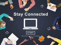 Rede interativa conectada estada que compartilha do conceito social fotos de stock royalty free