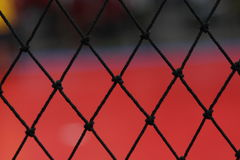 Rede interna da corte de Futsal Fotos de Stock