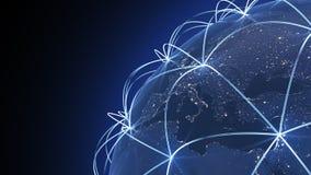 Rede internacional Imagens de Stock