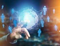 Rede internacional indicada em uma relação futurista com g Fotografia de Stock Royalty Free
