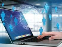 Rede internacional indicada em uma relação futurista com g Imagem de Stock Royalty Free