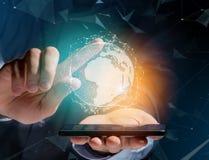 Rede internacional indicada em uma relação futurista com g Foto de Stock Royalty Free