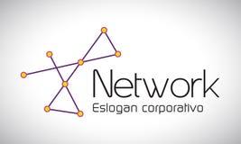 Rede - logotipo Fotografia de Stock Royalty Free