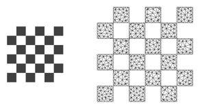Rede Mesh Chess Board do vetor e ícone liso ilustração royalty free