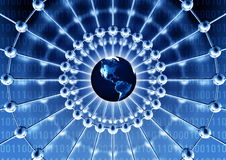 Rede mundial Imagens de Stock Royalty Free