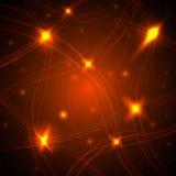 Rede neural das sinapses Fotografia de Stock Royalty Free