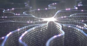 Rede neural de inteligência artificial Fotos de Stock