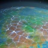 Rede no fundo gerado planeta da textura ilustração stock