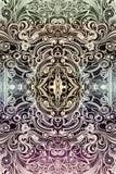 Rede original de incandescência brilhante colorido artística do sumário dos testes padrões e das formas ilustração royalty free