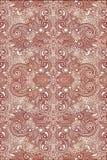 Rede original vermelha artística do sumário das formas e dos testes padrões ilustração royalty free