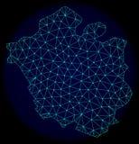 Rede poligonal Mesh Vetora Abstract Map da cidade de Chandigarh ilustração do vetor