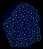Rede poligonal Mesh Vetora Abstract Map do emirado de Dubai ilustração stock