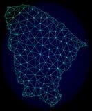 Rede poligonal Mesh Vetora Abstract Map do estado de Ceara ilustração stock
