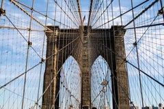 A rede - ponte de Brooklyn Fotos de Stock