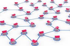 Rede simbólica do estabelecimento Imagem de Stock Royalty Free