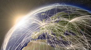 Rede sobre Europa Imagens de Stock