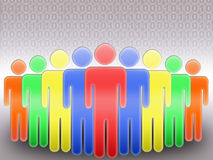 Rede social (06) Foto de Stock