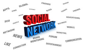 Rede social Imagem de Stock