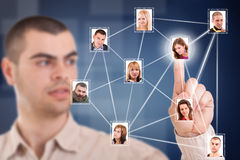 Rede social Imagens de Stock Royalty Free