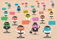 Rede social Fotografia de Stock