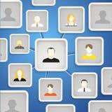 Rede social Imagem de Stock Royalty Free