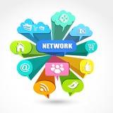 Rede social Foto de Stock