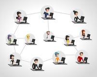 Rede social. ilustração royalty free