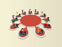 Rede social. Fotografia de Stock Royalty Free