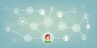 Rede social ilustração do vetor