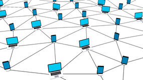 Rede social conceptual Fotografia de Stock
