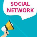 rede social do texto ilustração royalty free