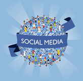 Rede social dos media do mundo Imagem de Stock Royalty Free